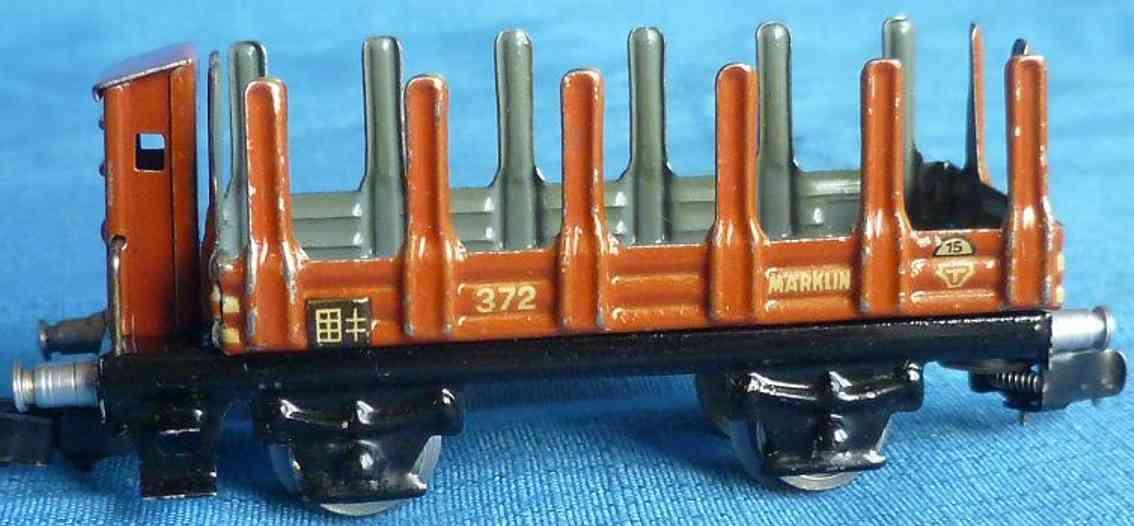 maerklin 372-1 spielzeug eisenbahn rungenwagen spur h0