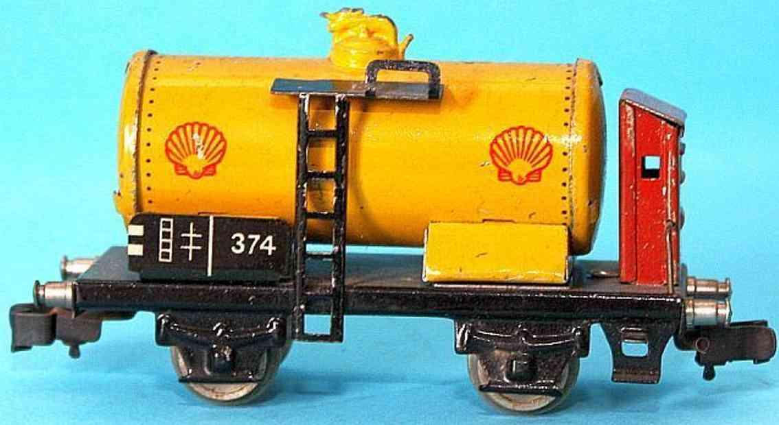 maerklin 374S-1 spielzeug eisenbahn kesselwagen shell spur h0