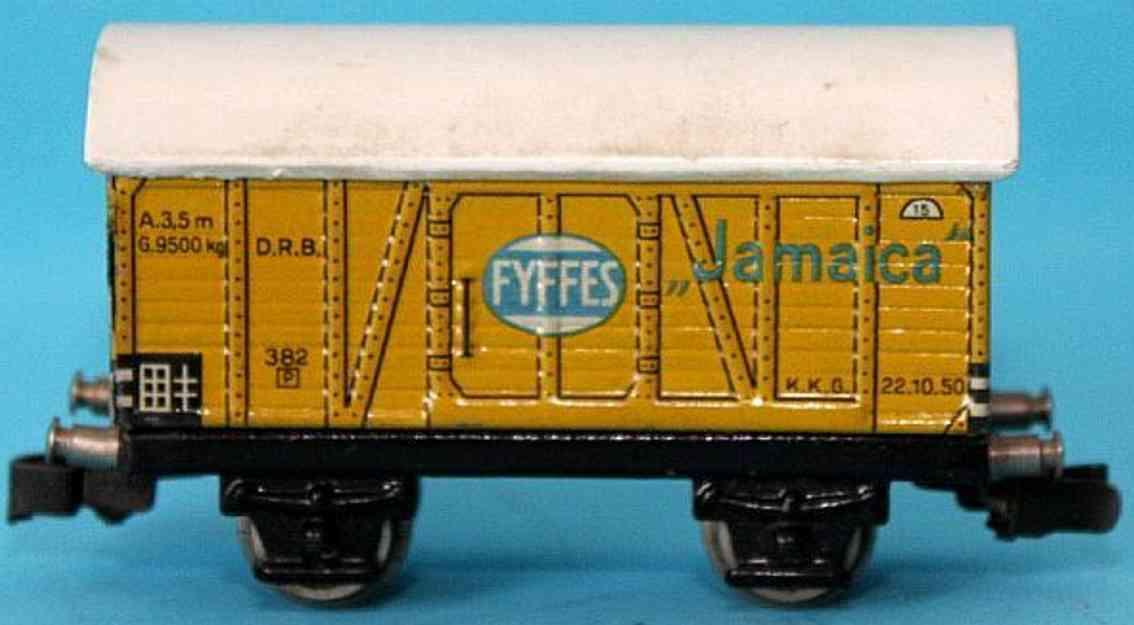 maerklin 382-2 spielzeug eisenbahn bananenwagen spur h0