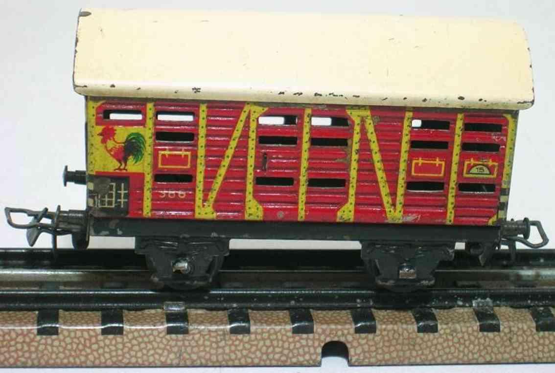 maerklin 386-3 spielzeug eisenbahn kleintierwagen spur h0