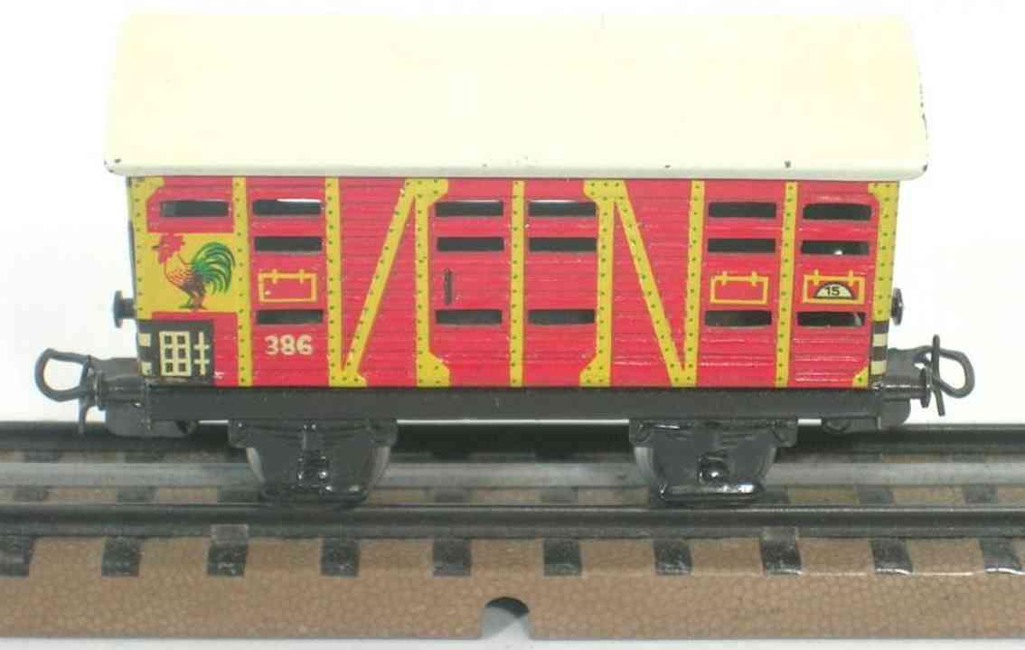 maerklin 386-5 spielzeug eisenbahn kleintierwagen spur h0