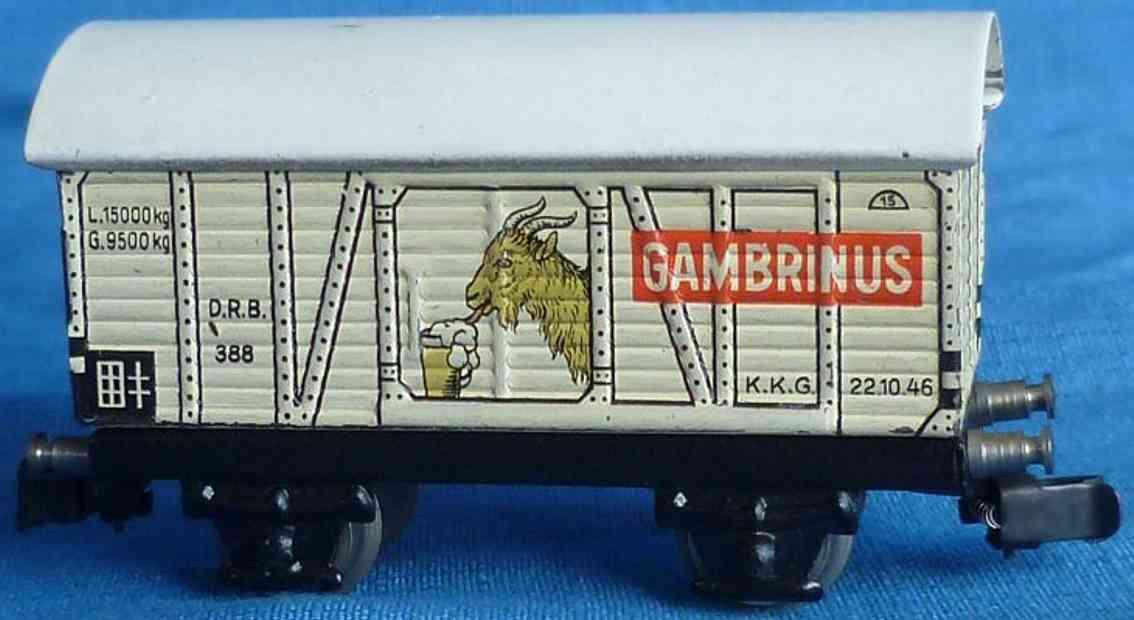 maerklin 388-1 spielzeug eisenbahn bierwagen spur h0