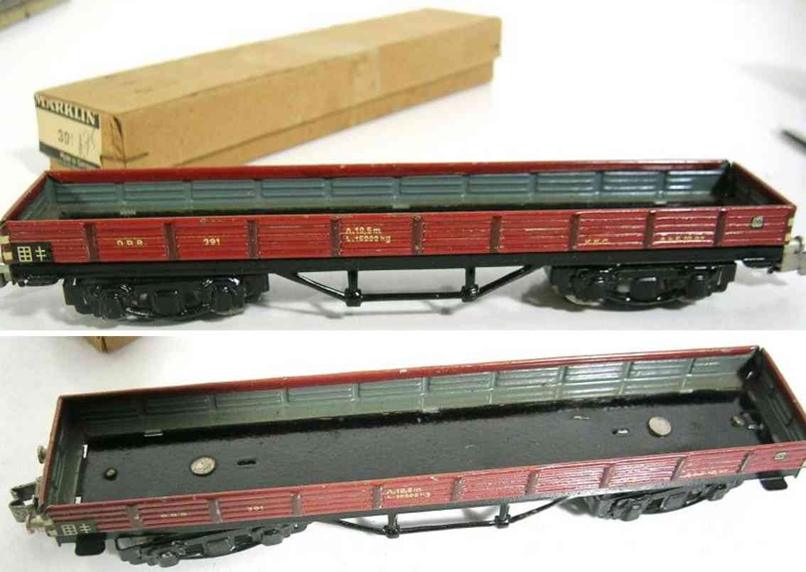 maerklin 391-4 niederbordwagen schwarz braun spur h0