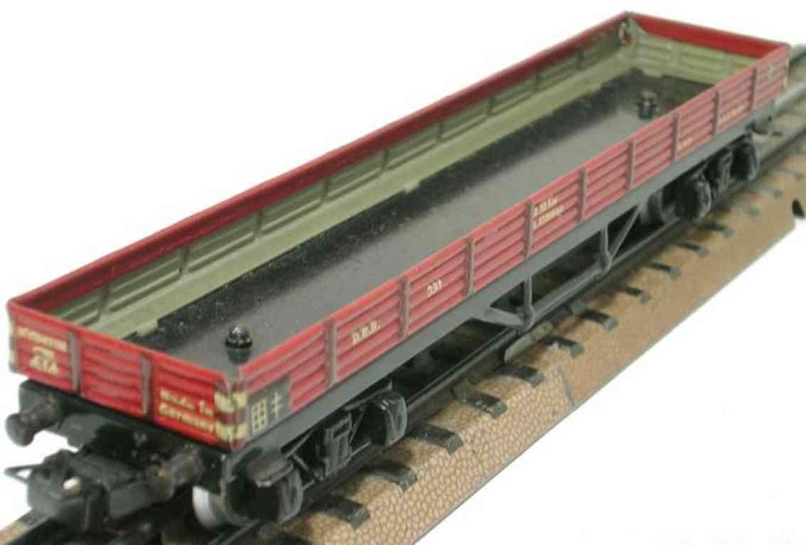 maerklin 391-6 niederbordwagen schwarz braun spur h0