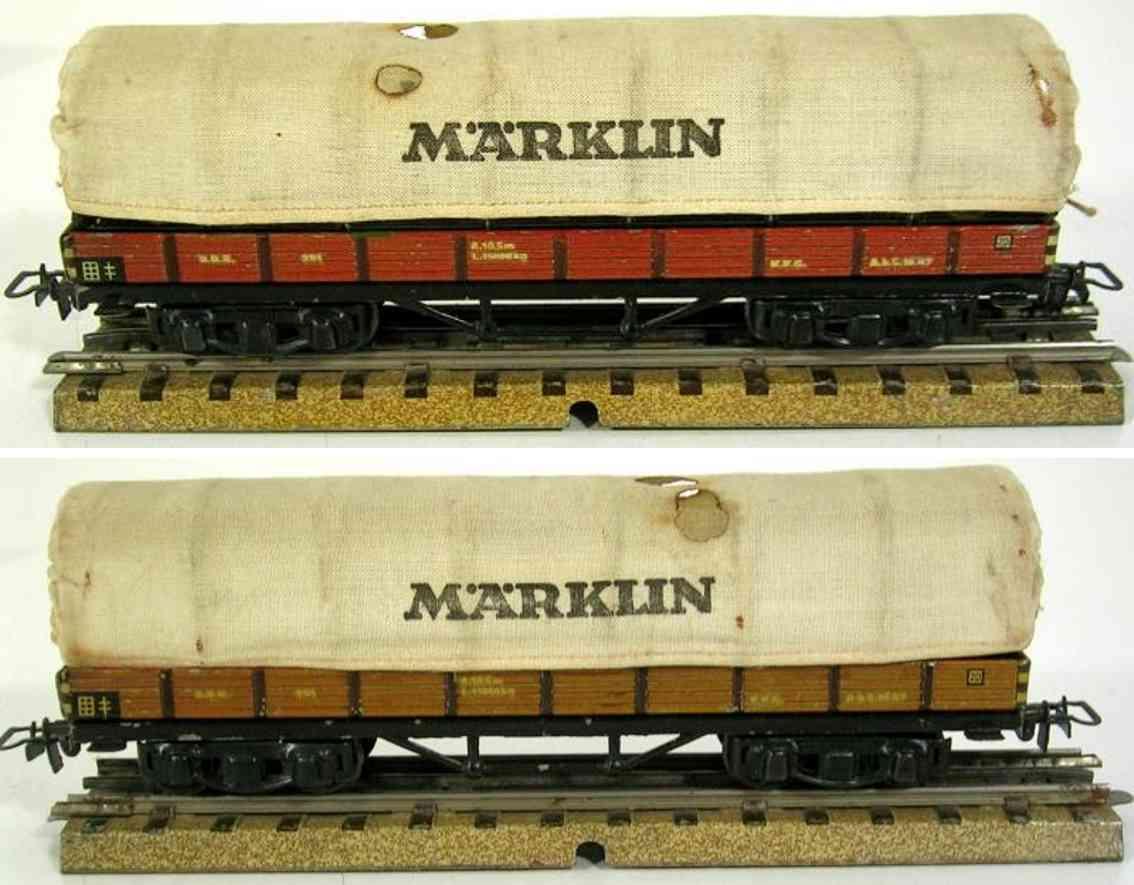maerklin 393-4 spielzeug planewagen braun spur h0