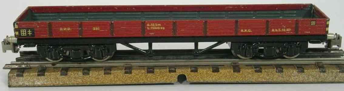 maerklin 391-1 niederbordwagen schwarz braun spur h0
