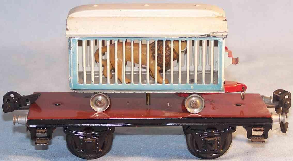 maerklin 1983/0 t spielzeug eisenbahn zirkuskaefigwagen mit loewen spur 0