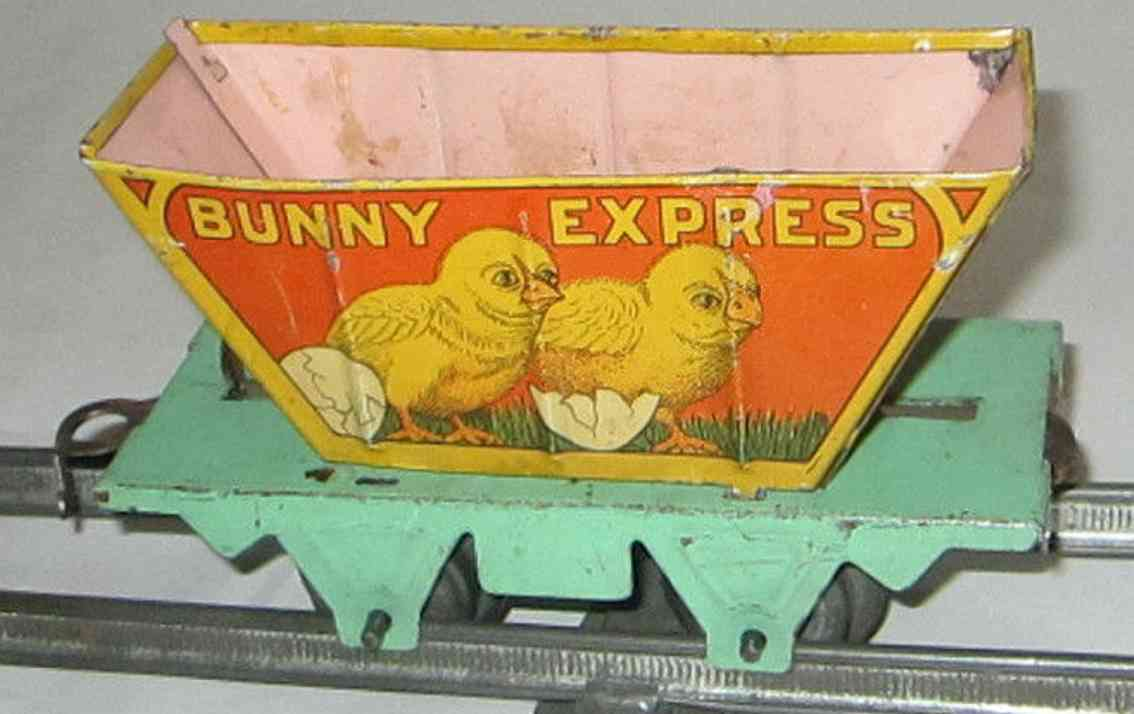 marx louis Bunny Express railway toy bunny express train car gauge 0