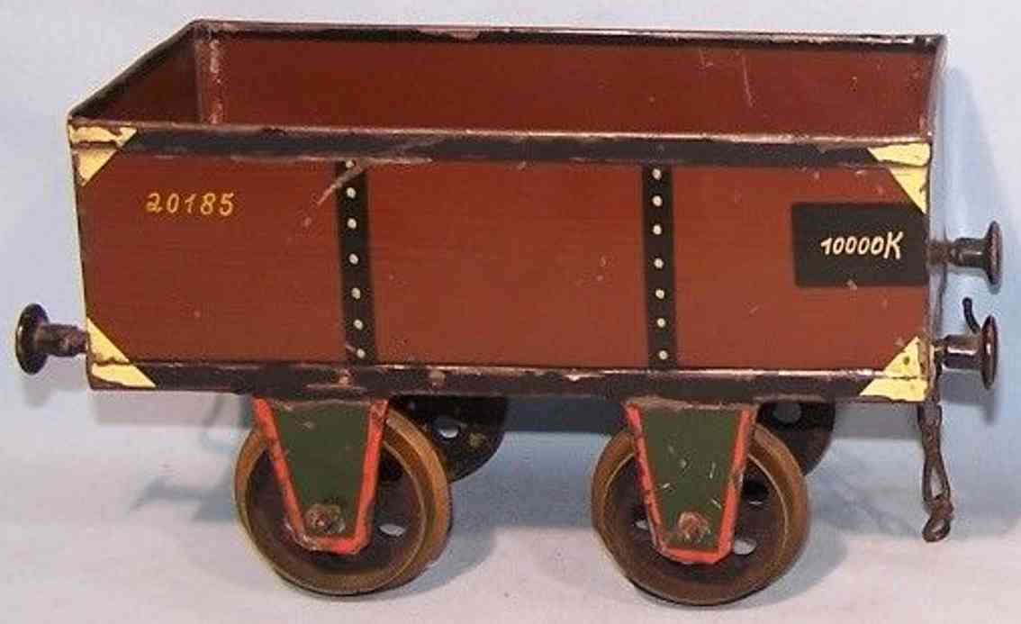 rock & graner Hochbordwagen railway toy high-sided car 20185 brown gauge 3