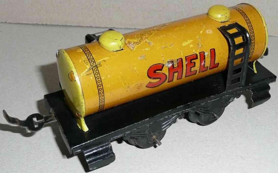 schuhmann,adolf 800/9 eisenbahn kesselwagen shell gelb schwarze leiter spur 0