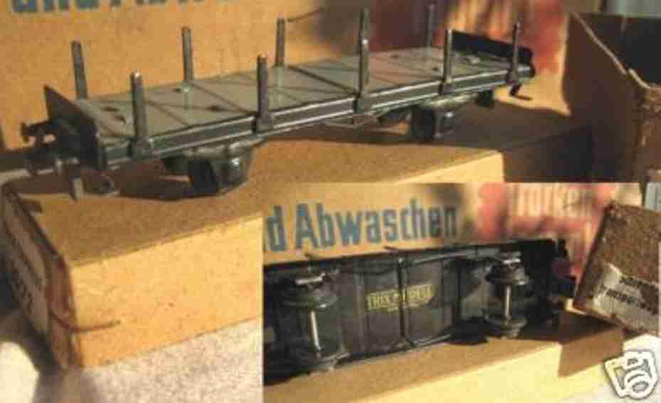 Trix 20/72 Güterwagen Schienen-Transportwagen