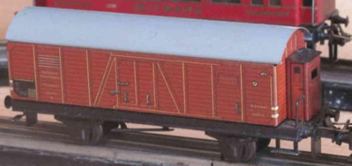 trix 20/79 gueterwagen braun grau deutsche reichsbahn kassel 5074-g spur h0