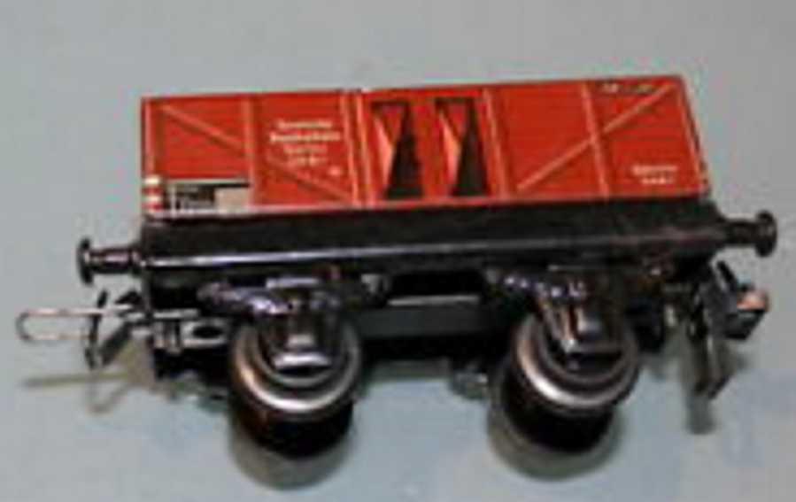 trix 2051 spielzeug eisenbahn güterwagen; 2-achsig; braun, reichsbahn berlin