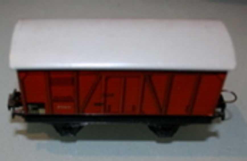 trix 2063 spielzeug eisenbahn güterwagen; 2-achsig; braun, deutsche reichsbahn