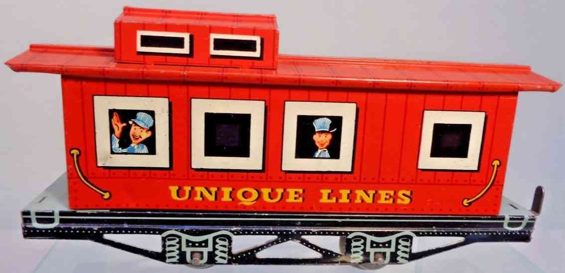 unique art manufacturing company caboose red spielzeug eisenbahn lines rot spur 0