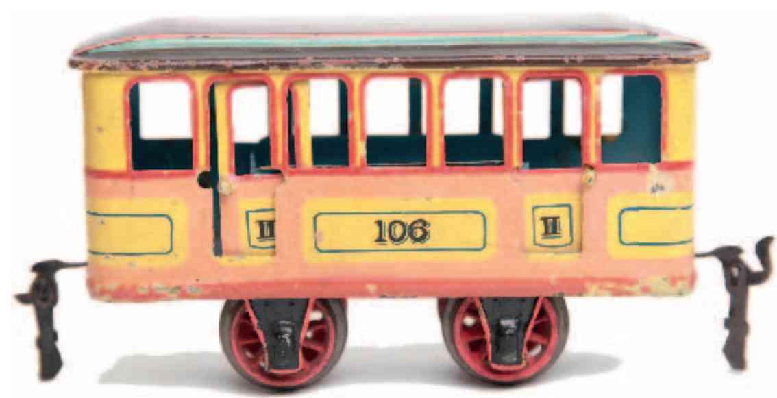 marklin maerklin 1067/0 railway highways subway trailer car yellow orange gauge 0