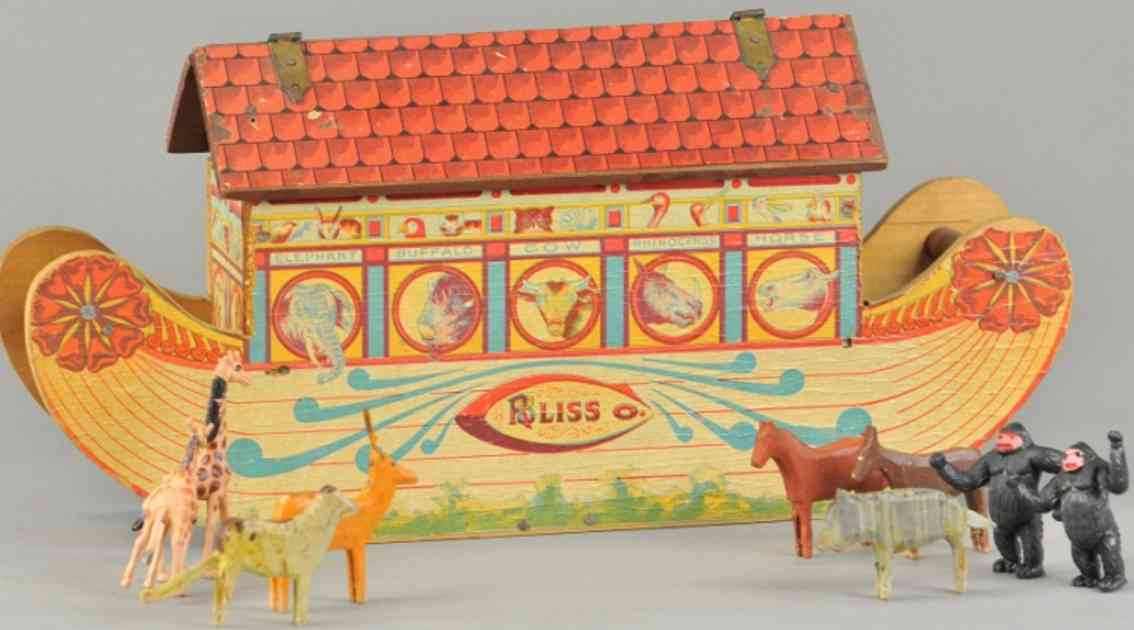 bliss rufus toy ship ark over wood animals