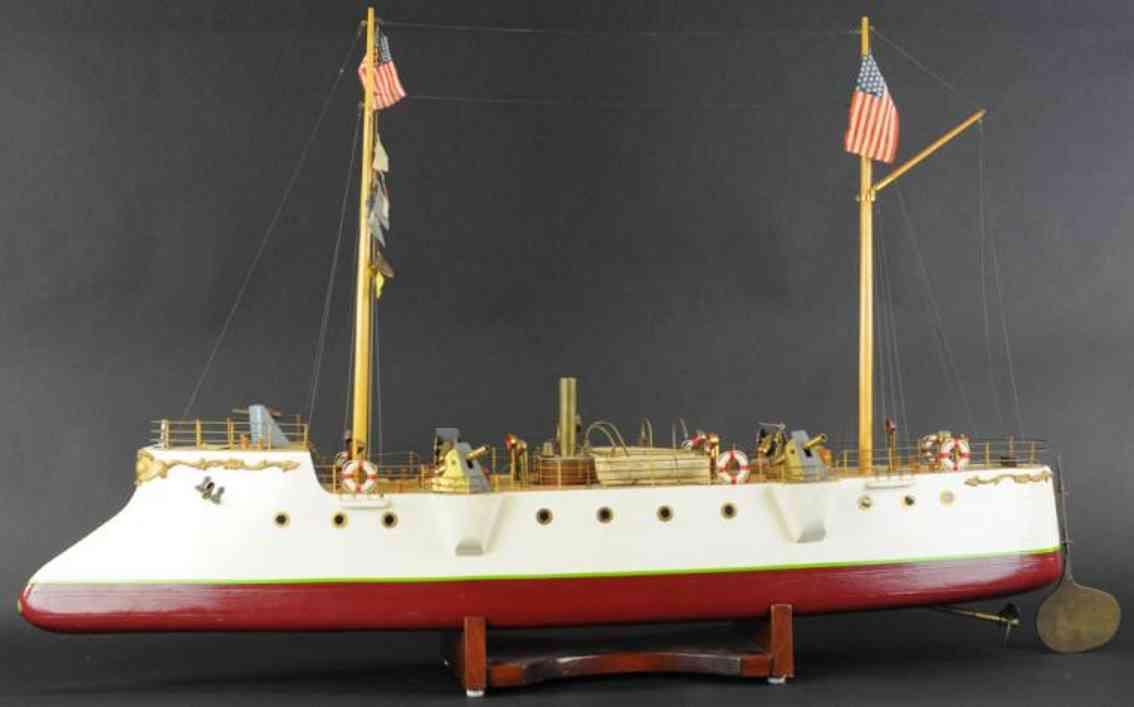 bristol model steamship holz spielzeug echtdampf kanonenschiff
