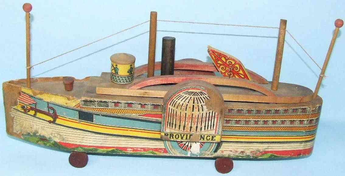 reed toy co holz spielzeug seitenrad-flussdampfer providence