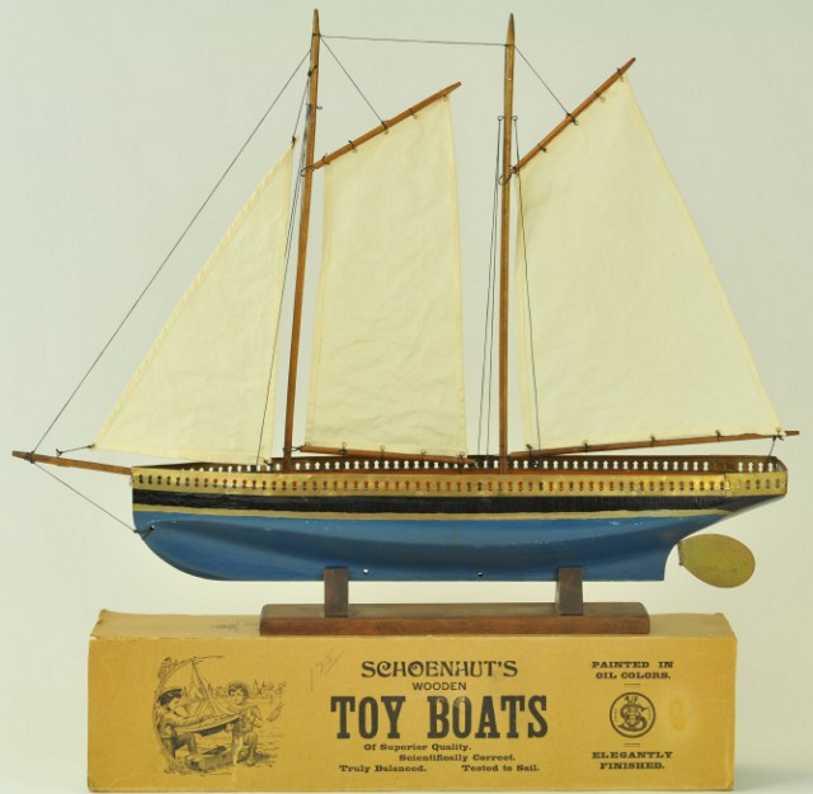 schoenhut 200/20 holz spielzeug schiff segelboot