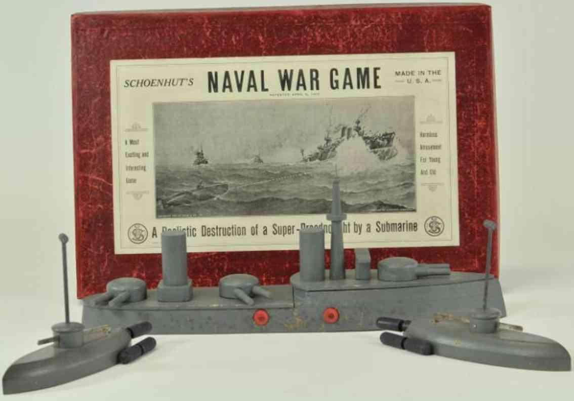 schoenhut 280/50 holz spielzeug schiff u-boot seekriegsspiel