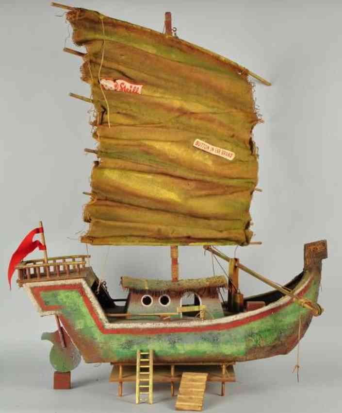 steiff wooden toy ship steiff chinese junk window display