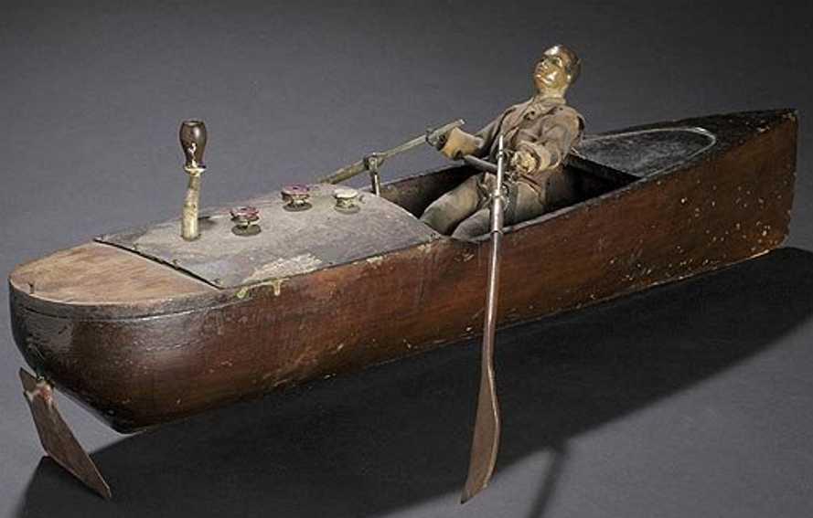 holz spielzeug ruderboot