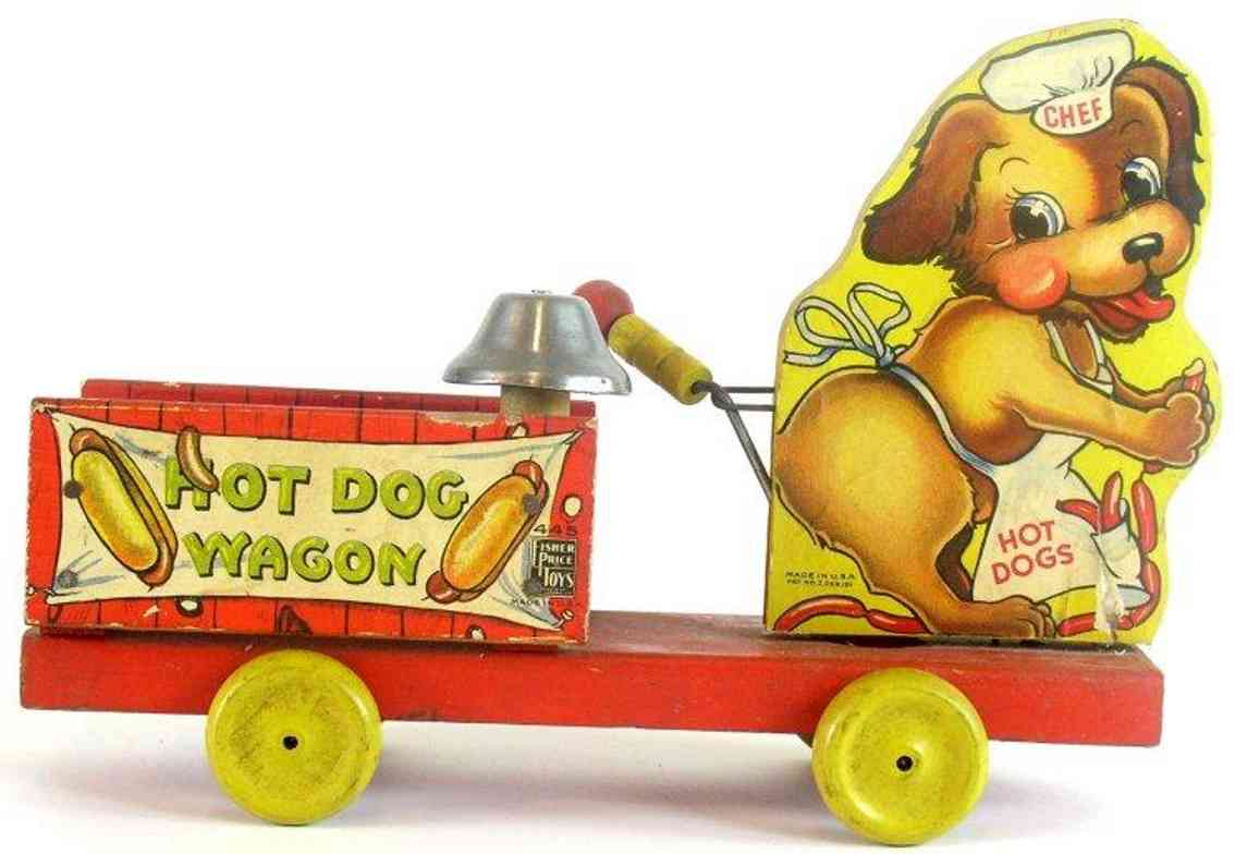 fisher-price 445 wooden toy chef hot dog