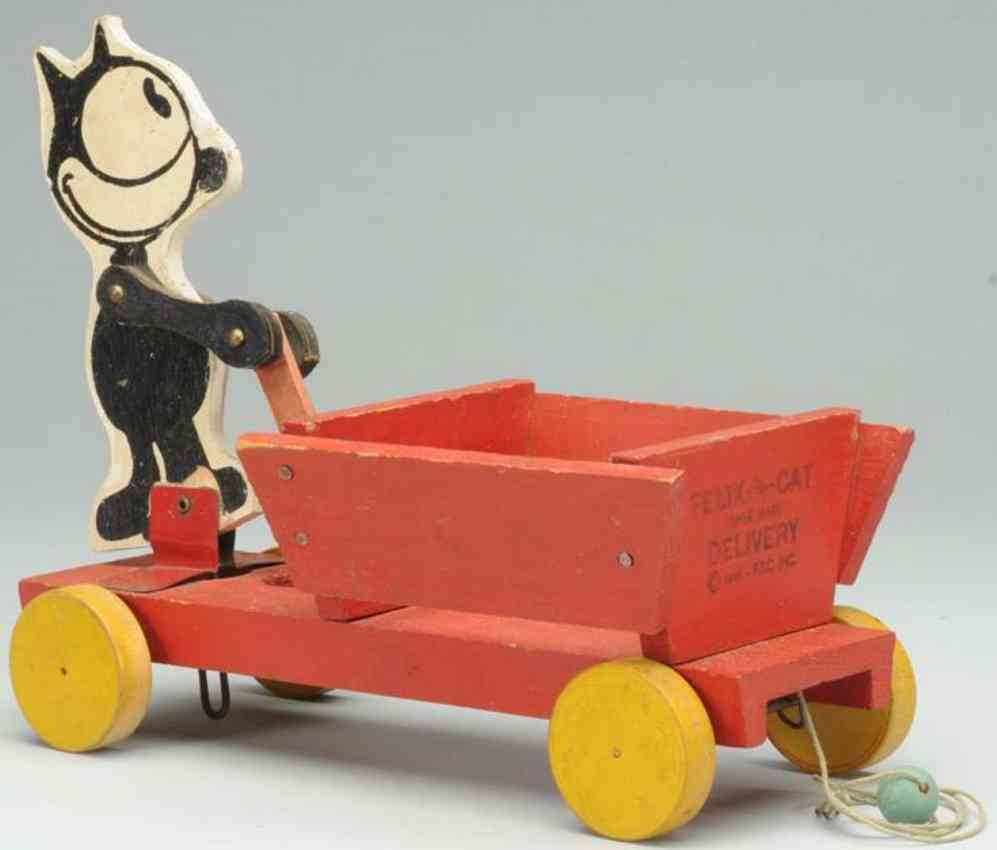 fisher-price 500 wooden felix the cat delivery toy donald duck