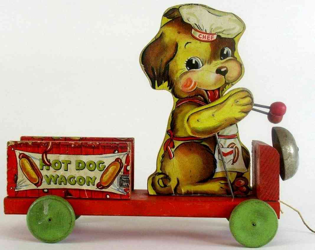 fisher-price 750 wooden toy chef hot dog