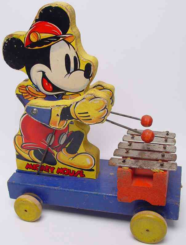 fisher-price 798 wooden toy figure mickey mouse xylophone