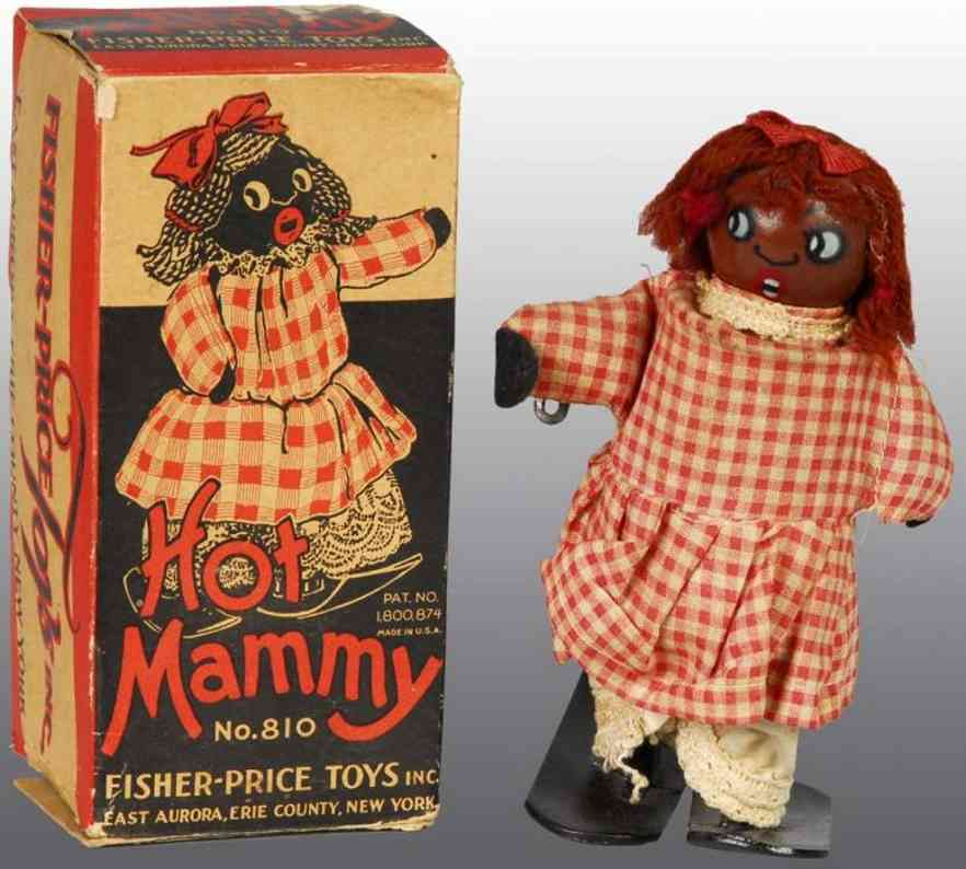 fisher-price 810 wooden toy hot mammy wind-up