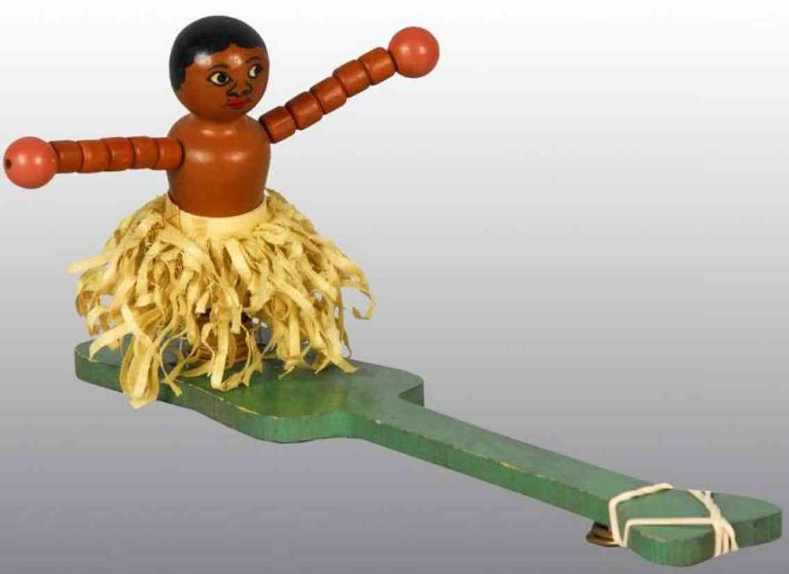 Fisher-Price Holz Prototyp Hawaianischer Tänzer