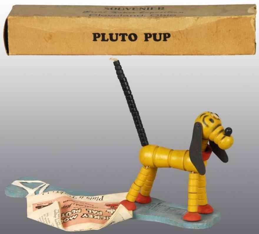 fisher-price holz spielzeug knack pluto auf paddel