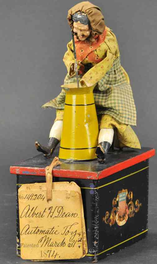 ives 149.204 wooden toy washer woman on pedestal