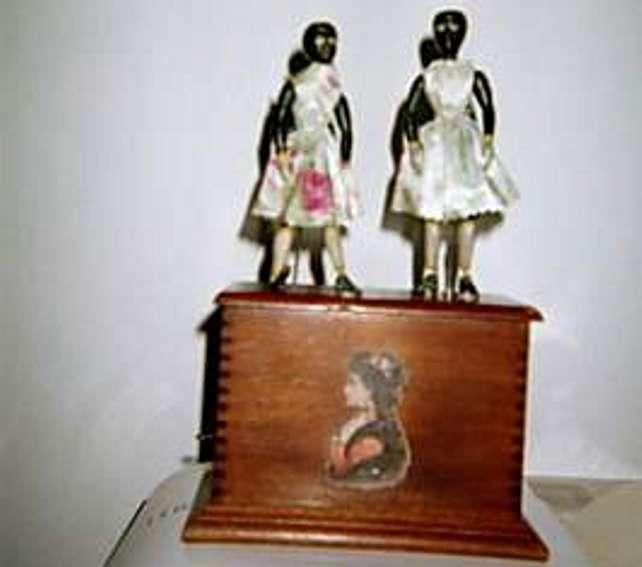 ives holz spielzeug figur zwei taenzer