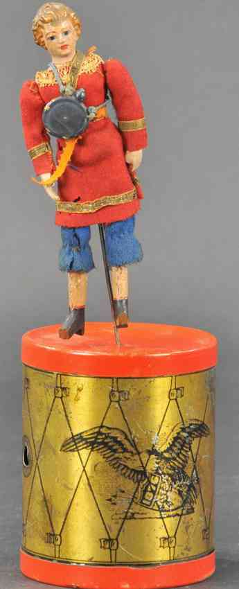 ives wooden toy daughter of the regiment drum dancer clockwork
