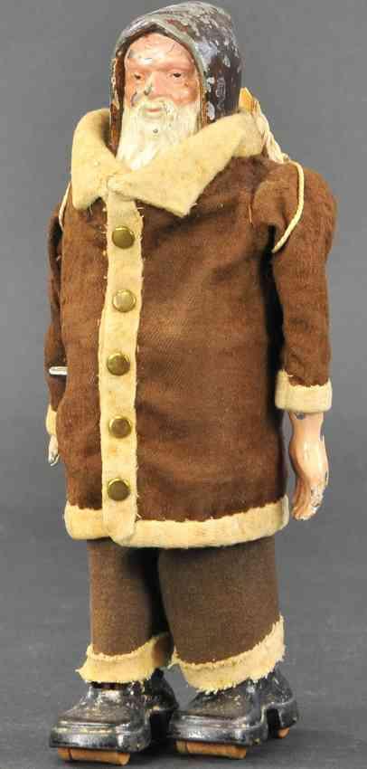 ives holz spielzeug weihnachtsmann als spaziergaenger