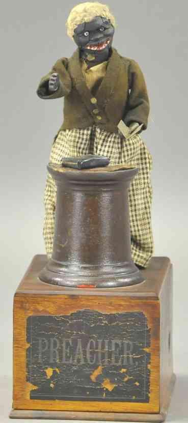 ives holz spielzeug figur prediger auf der kanzel uhrwerk