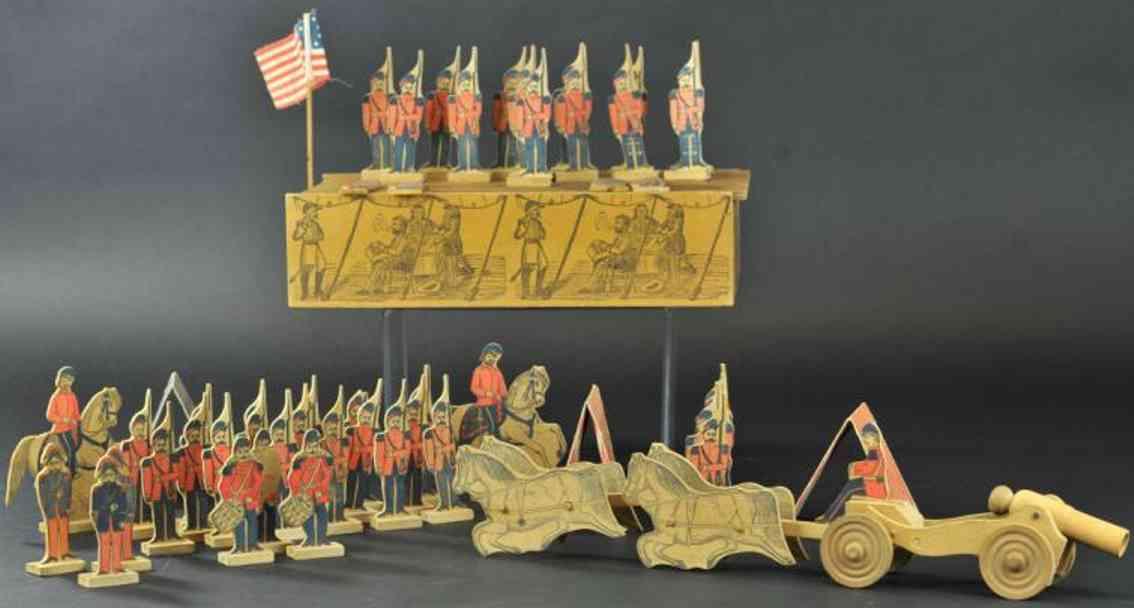 reed toy co holz spielzeug figur set soldaten kutsche kanone