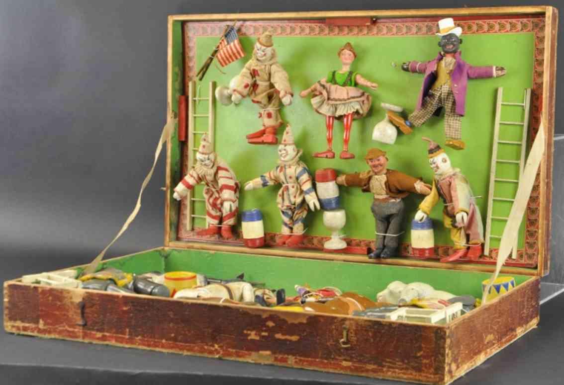 schoenhut 20-36 holz spielzeug figur humpty dumpty zirkus clowns