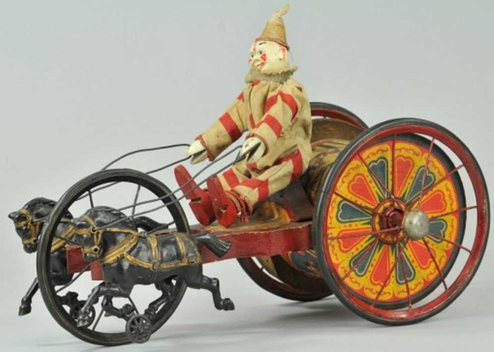Schoenhut Clown auf Kutsche