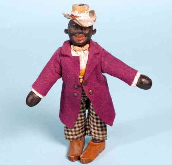 schoenhut wooden toy black dude jointed figure