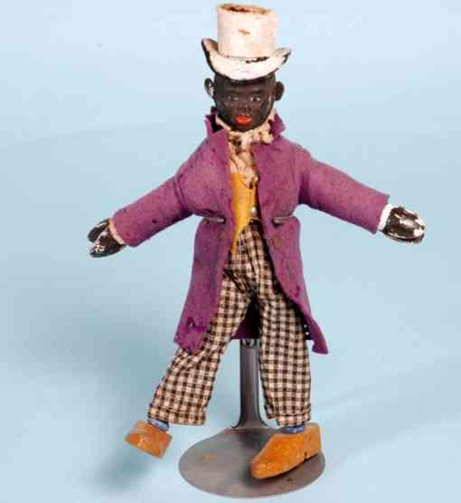 schoenhut wooden toy figure native black dude