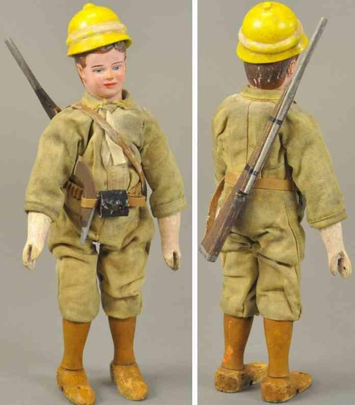 schoenhut holz spielzeug teddys safari soldatenfigur