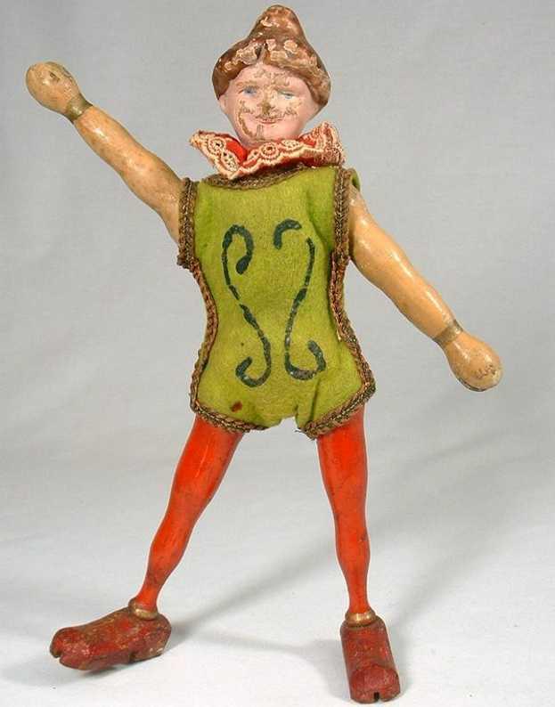 schoenhut wooden toy figure humpty dumpty circus lady acrobat