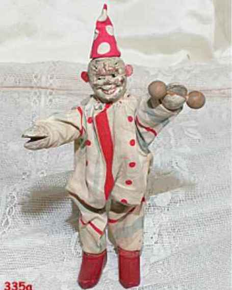 Schoenhut Jointed clown has barbell