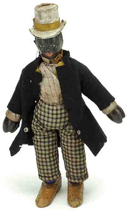 schoenhut wooden jointed toy dude cloth dressed