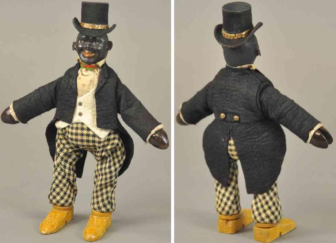 schoenhut holz spielzeug figur schwarzer zirkusmann stil I
