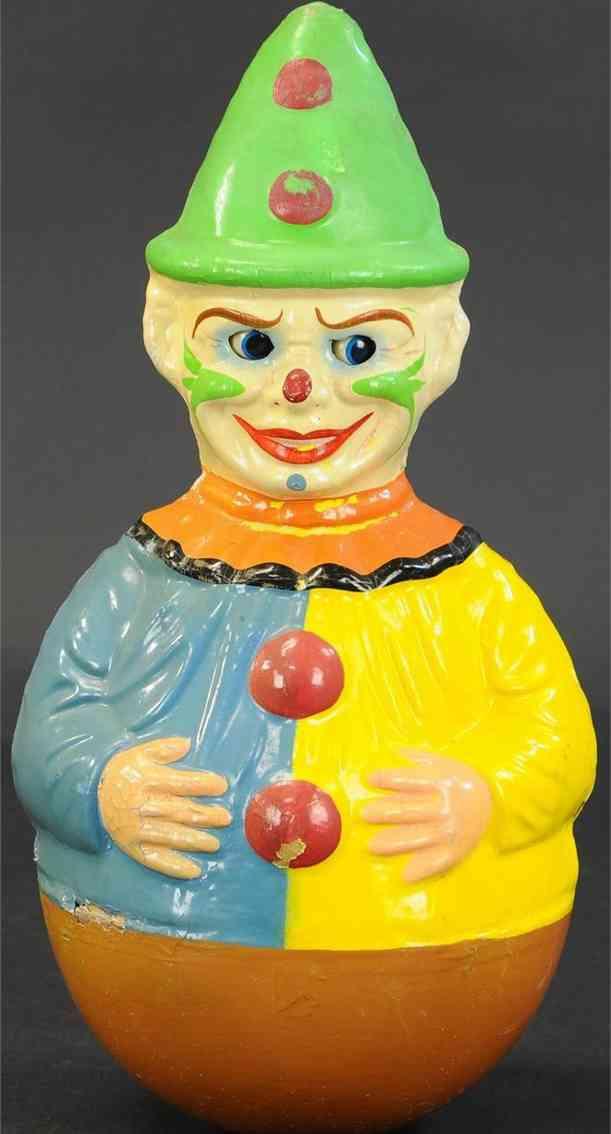 schoenhut holz spielzeug clown stehaufmaennchen musik